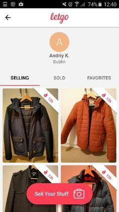 Sell Your Stuff, Profile, Leather Jacket, Jackets, Fashion, User Profile, Studded Leather Jacket, Down Jackets, Moda