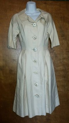 Button Dress, Floral Maxi Dress, Vintage Fashion, Housecoat, Shirt Dress, Trench, Cardigans, Sleeves, How To Wear