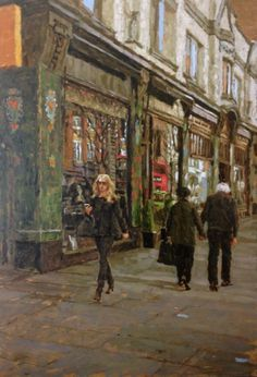 """Tony Karpinski @tonykarpinski ' India Jane ' oil painting London series.  - according to @HaynesFineArt  they sold 16 of his paintings during a recent exhibition and now have a """"waiting list for London paintings."""" This artist is on fire, and rightly so - he does beautiful work."""