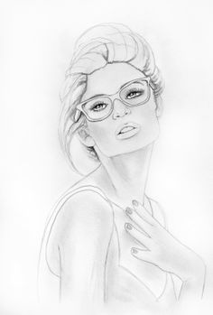 Stephen Lursen Art: Drawing for design work. http://www.donnadowney.com/donna-downey-cling-stamp-eva.html