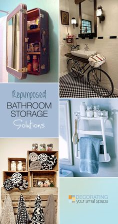 Re-purposed Bathroom Storage Solutions!