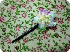 Tiny Sequin & Pearl -Flowers Make Hair Twinkle - EZ Quick to Make = Great How -To
