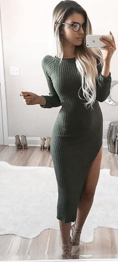 Long Green Dress                                                                             Source