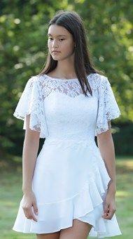 Pretty Dresses, Beautiful Dresses, Confirmation Dresses, Grad Dresses, White Dress, Anna, Wedding, Outfits, Clothes