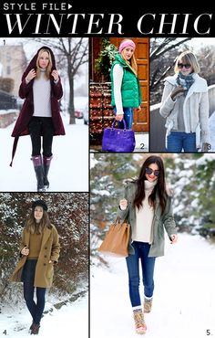 Style tips for dressing in the winter cold.