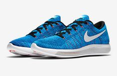 best service b3db0 99102 Discount 2018 Nike LunarEpic Low Flyknit Racer Blue Black Air Max Sneakers, Sneakers  Nike,
