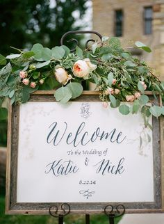 chic elegant wedding welcome sign ideas