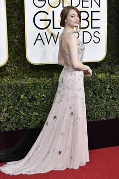 Emma Stone in Valentino at the Golden Globes 2017