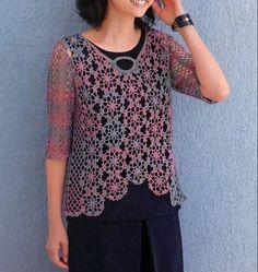 Crochet Blouse, Crochet Lace, Free Crochet, Hippie Crochet, Summer Patterns, Summer Tops, Tatting, Free Pattern, Crochet Patterns