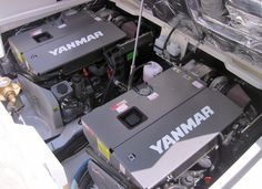 Yanmar 6BY3-260 Joystick: Pictured here is the installation of twin Yanmar 260-hp 6BY3 engines with Yanmar ZT370 sterndrives in a new MJM 36z Downeast cruising boat.
