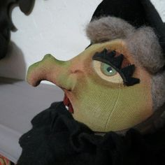 Primitive Witch Cuboard Sitter by bayrayschild on Etsy