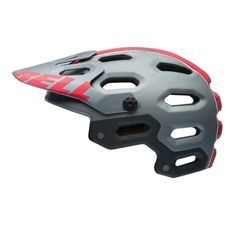 Buy your Bell Super 2 MTB Helmet - Helmets from Wiggle. Xc Mountain Bike, Mountain Bike Helmets, Motorcycle Helmets, Bicycle Helmet, Bell Helmet, Full Face Helmets, Helmet Design, Headgear, Cool Bikes