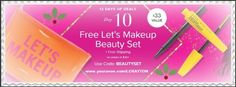On the the 10th Day of Christmas Avon gave to me, a FREE Makeup Beauty Set with any order of $45.00 or more at: www.youravon.com/LCRAYTON #freegift #makeupset