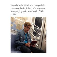 Dylan Sprouse playing Nintendo DS NY Subway