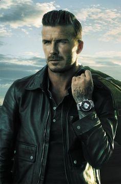 David Beckham with Breitling