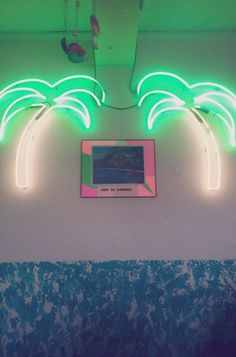 tropical wedding - brides of adelaide magazine - neon light Neon Palm Tree, Palm Trees, Drink Bar, Kitsch, All Of The Lights, Neon Lighting, Light Up, Signage, Glow