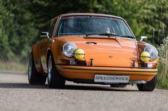 Porsche 911 ST (oranje) van Speed Service, Dé Porsche 911 Specialist!
