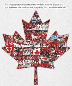 What playing for Team Canada means. Canadian Things, I Am Canadian, Men's Hockey, Field Hockey, Hockey Stuff, Soccer, All About Canada, Canada Hockey, Winter Olympics 2014