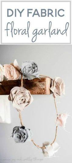 DIY Fabric Floral Garland | Stoffe, Blumen und Deko