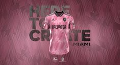Inter Miami CF | Concept x Football Nerds on Behance Sports Uniforms, Football Uniforms, Football Jerseys, Soccer Kits, Football Kits, Miami, Sports Jersey Design, Jersey Designs, Football Shirt Designs