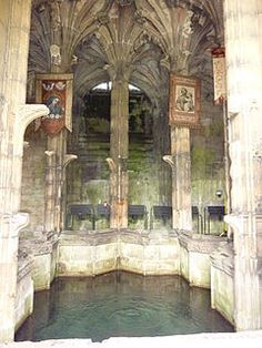 St Winefride's Well Holywell,Flintshire, Wales,  Known since the Roman times it has been a  place of pilgrimage for the ill and sick for it's healing proiperties