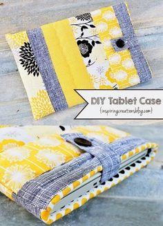 DIY Tablet Case by Inspiring Creations Diy Sewing Projects, Sewing Hacks, Sewing Tutorials, Sewing Crafts, Sewing Tips, Diy Tablet Case, Tablet Cover, Ipad Case, Quilt Patterns Free