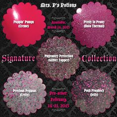 Pre-order window for brand new Signature Collection is now open, up to and including February 21st!  http://www.mrspspotions.com/signature-collection-1/