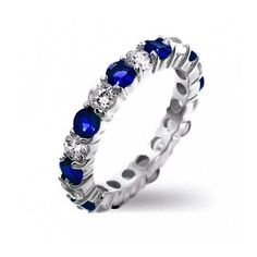 Purchase Alternating Two Tone Cubic Zirconia Stackable CZ Eternity Ring For Women Teen 925 Sterling Silver 12 Birth Month Colors from Bling Jewelry Inc on OpenSky. Share and compare all Jewelry. Sapphire Color, Blue Sapphire Rings, Sapphire Jewelry, Blue Rings, Bling Jewelry, Wedding Jewelry, Wedding Rings, Emerald Color, Wedding Band