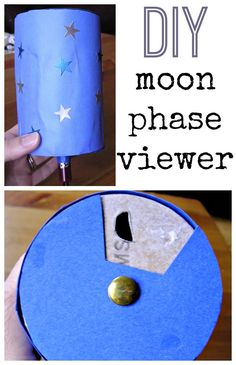 EDUC Another possible model of moon phases. Moon phase activity for kids. Build a moon phase viewer. Moon Activities, Space Activities, Science Activities, Science Projects, Activities For Kids, Science Ideas, Elementary Science, Science Fair, Teaching Science