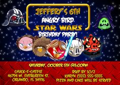 Star Wars party invites
