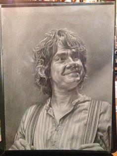 Original Drawing of Martin Freeman as Bilbo by JohnDiBiaseArt, $205.00