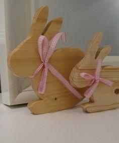 Holz Osterhasen