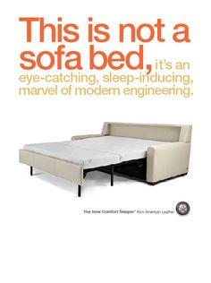 American Leather Comfort Sleeper for accommodating guests