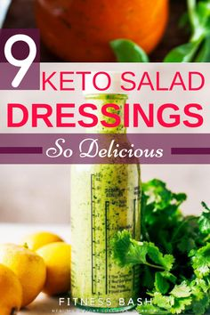 9 Keto Salad Dressing Recipes so Delicious Keto salad dressing recipes: The delicious low carb keto salad dressing ideas which are homemade. Try out the easy keto salad dressing recipes Low Carb Dressing, Keto Fat, Low Carb Keto, Keto Sauces, Paleo For Beginners, Get Thin, Salad Dressing Recipes, Salad Recipes, Healthy Dressing For Salads