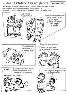 La Catequesis: Parábola el que perdonó a su compañero