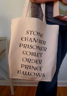 Harry Potter tote bag. I could carry my books in it.