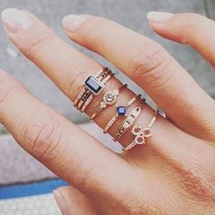 It's the little things in life...but like, a LOT of little things—tap the link in our profile to shop the prettiest ring options for stacking, layering or going solo : @jenniekwondesigns