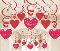 Details about 60 x Valentines Day Red & White Heart Swirl Decorations Value Pack Valentines Decoration, Valentine Wreath, Valentine Crafts, Birthday Party Decorations, Valentines Day Gifts For Him, Valentines Day Hearts, Valentine Heart, Valentinstag Party, Valentine Images