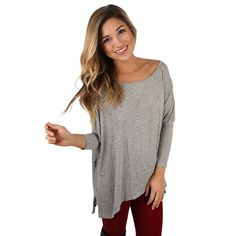 This little top is oh so luxurious! We love the super soft material! Pair it with dark skinnies and a statement necklace. You'll look perfect for your next night out! Comes in four colors.