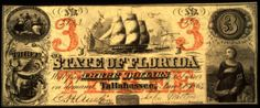 Florida currency Three-dollar bill printed by the Keatinge and Ball Company in… Vintage Florida, Old Florida, State Of Florida, American Civil War, American History, Confederate States Of America, Civil War Photos, Old Money, Old Coins