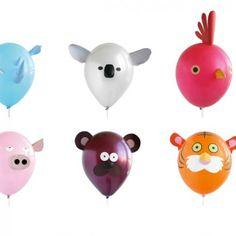 """Die Kleinen müssen ihre Gästeschar ja leider meist beschränken. Oft gilt die Regel: """"So alt du wirst, so viele Freunde darfst du einladen!"""" Doch niemand kann Luftballons verbieten. Mit den lustigen Animal Heads kommt Stimmung auf. Das Beste daran ist, man kann sie selbst gestalten und aus einem Vogel einfach mal einen Schweinetiger machen.Und wenn einer frech kommt, pickst man ihn kurz an und PENG! Problem geklärt.Hersteller: WorldWideCo"""