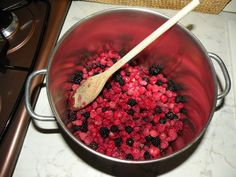 Wildberries picked up from a wood in the mountains