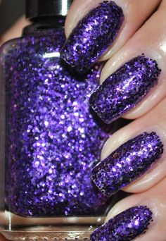 Pony Purple Glitter Nail Polish 5ml Mini Bottle. $4.50, via Etsy.