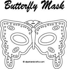 Instant Masks for Halloween, Mardi Gras, Masquerade: Fantasy Butterfly Mask Template Printable Halloween Masks, Printable Masks, Printables, Free Printable, Butterfly Eyes, Butterfly Crafts, Printable Butterfly, Butterflies, Butterfly Pattern