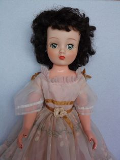 "Vintage 18"" Horsman Cindy Fashion Doll, Brunette Hair, Original Dress – TLC #Horsman #DollswithClothingAccessories"