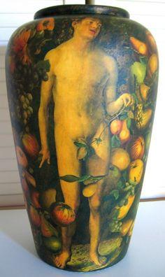 ADAM / One side of 45 Cm Tall Vase