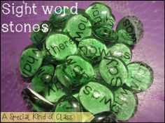 A special kind of class: Bright Ideas - Sight word stones