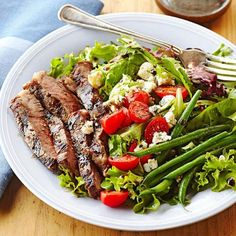 Celebrate the season with chicken salad recipes, potato salad recipes, salad dressing recipes, pasta salad recipes, grilled steak salad recipes and more.