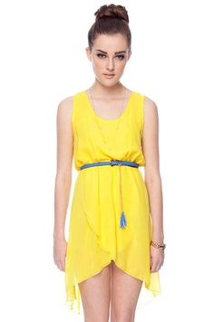 Belted Chiffon Hi-Low Dress  $24 at www.tobi.com