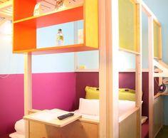 Photo Deco : Chambre Ado  Bleu  Design   Hôtel design coloré Matali Crasset bleu